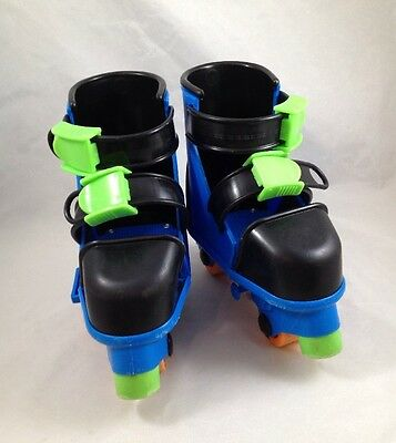 Playskool Adjustable Beginner Inline Roller Blades Skates Plastic & Tuff Stuff