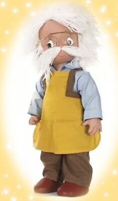 "Disney Pinocchio Doll Gepetto  - Precious Moments 12"" Vinyl Doll"
