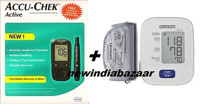 Accu-Chek  Active Blood Glucose Monitoring + Omron Blood Pressure Monitor Combo