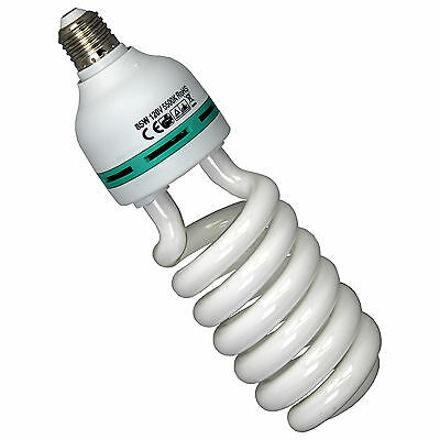 85W 5500K Photography Lighting Studio Daylight Bulb Compact Fluorescent Lamp NEW