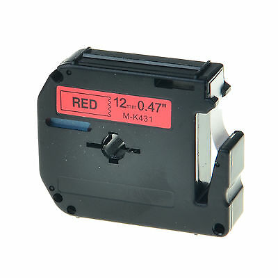 1PK Black on Red Tape for Brother P-touch MK431 M-K431 PT-90 12mm Label Maker