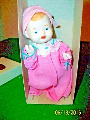 Shackman Collector's Bisque Baby Replica 6 inch Baby Doll made in Japan in box
