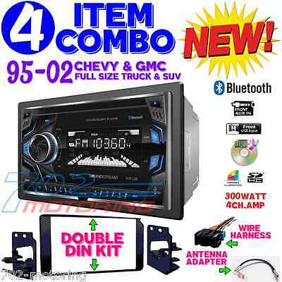 95-02 Gm Truck/suv Cd Touchscreen Bluetooth Double Din Car Stereo Radio