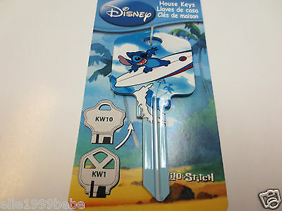 STITCH SUFING Key Kwikset KW1 House Key Blank / Authentic Disney House Keys