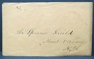 US Stampless Cover Boston Dr. Spencer  Vorphilatelie Vorphila Brief (Lot 9177