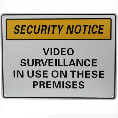 WARNING SECURITY NOTICE SIGN Video Surveillance In Use 225x300mm Metal 16003009