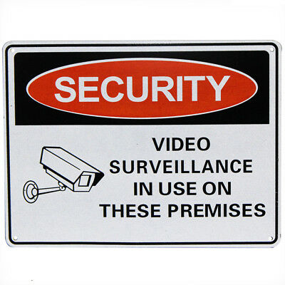 WARNING SECURITY NOTICE SIGN Video Surveillance in Use 225x300mm Metal 16003010