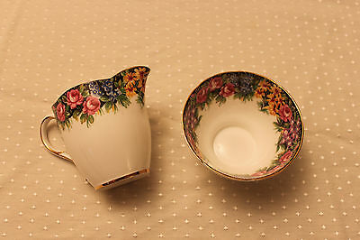 Old English Garden Paragon Fine Bone China Cream & Sugar