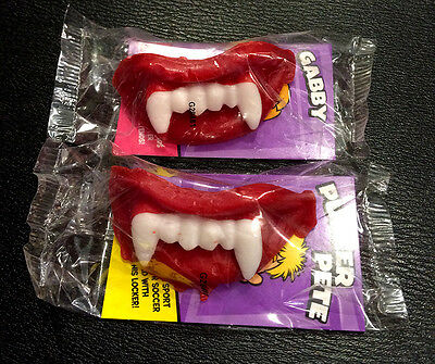 2 x Wax Fangs Vampire Teeth Cherry Flavour Chew Candy for Halloween • AUD 5.99