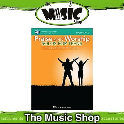 New Praise & Worship Solos for Teens Music Book with OLA - High Voice