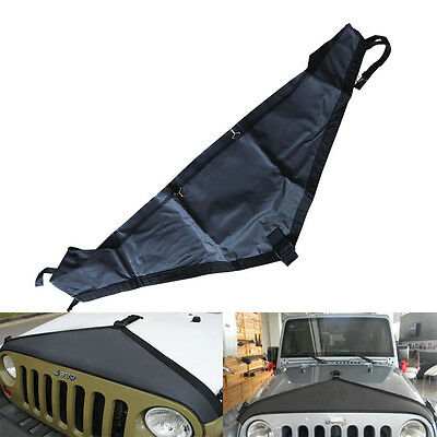 T-Style Hood Cover Front End Bra Durable Protector Kit for 2007-15 Jeep Wrangler