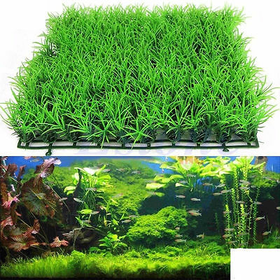 5X Artificial Fake Water Aquatic Green Grass Plant Lawn Decor Aquarium Fish Tank