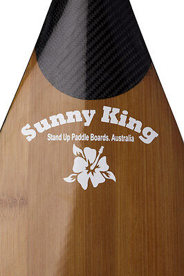 SUNNY KING 'ADJUSTABLE' Bamboo Carbon SUP Paddle
