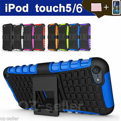 Case For Apple iPod Touch 5 6 5th Gen 5G Shockproof Heavy Duty With Kickstand