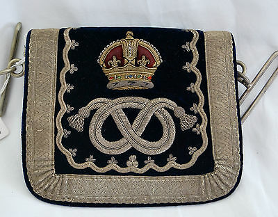 Queens Own Staffordshire Yeomanry Cavalry Officers Full Dress Pouch 1902 pattern