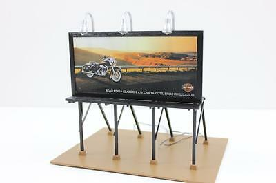 MTH O scale Rail King Harley Davidson illumited advertising billboard model new