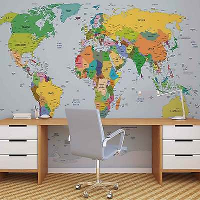 World Map WALL MURAL PHOTO WALLPAPER (2644DK)