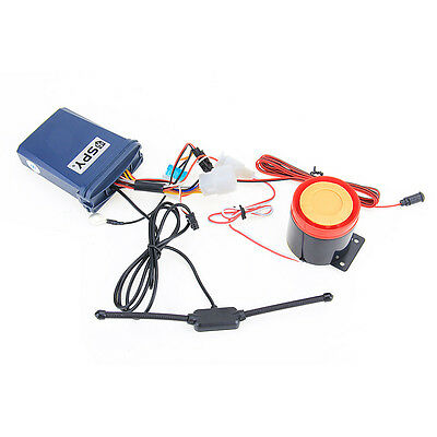 Two Way Motorcycle Anti-theft Alarm System Engine Start + 2 LCD Remote Control