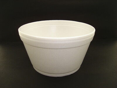500 x 12oz Foam / Polystyrene Containers CATERING  FAST FOOD SOUPS DELI (0807)