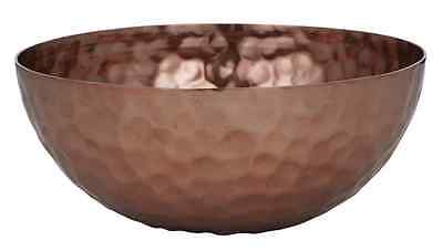 New Hand Made Copper Colour Metal Elements Bowl 10x25cm