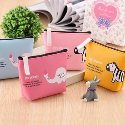 Cute Cartoon Boys Girls Animal Coin Purse Wallet Bag Change Pouch Key Holder New