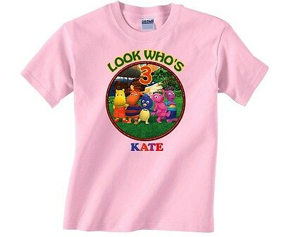 1acf9174 NEW BACKYARDIGANS PERSONALIZED Birthday T Shirt Party Favor Add Name ...