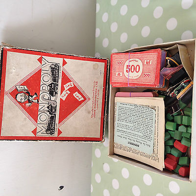 VINTAGE MONOPOLY BOARD GAME SPARES / MONEY / Property CARDS Rules MOVERS Etc