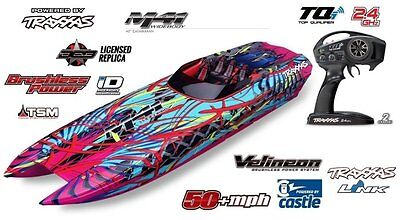 Traxxas M41 Widebody Brushless Rennkatamaran RTR TQi  Wireless TSM NEW 57046-4