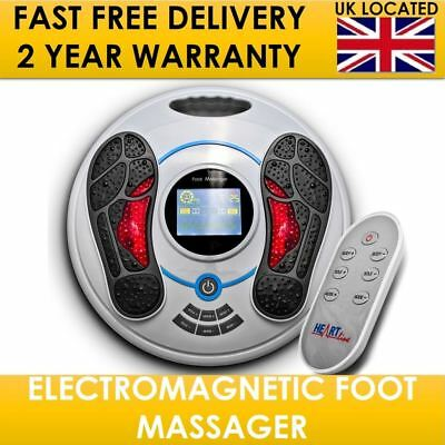 Deluxe Electric Foot Massager Circulation Blood Booster Infrared Medical Health