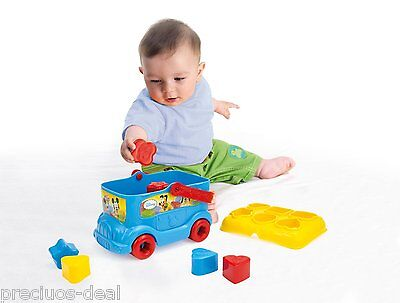 Baby Push Along Shape Sorter Bus Mickey Mouse Early Learning Kids Fun Play Shape