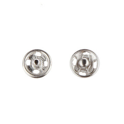 7mm Silver Invisible Snap Fasteners Sew On Press Stud For Doll DIY Accessory