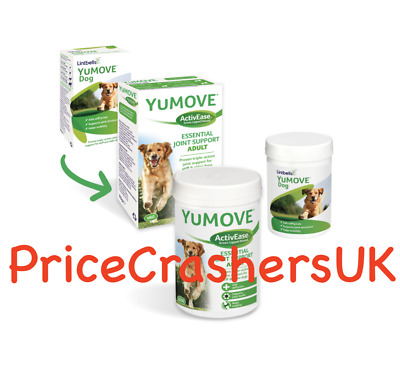 Lintbells Yumove Dog or Puppy Supplement Tablets 60/120/300 Joint Aids Mobility