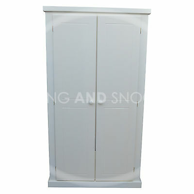 Handmade Dewsbury Ladies Shelved 2 Door Wardrobe White(Assembled)