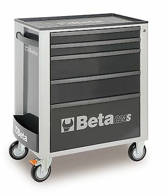Beta C24S/5 5 Drawer Mobile Roller Cabinet Grey