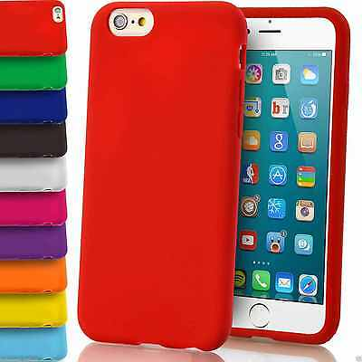 Soft Silicone Grip Cover Case Matte Plain Gel Rubber For iPhone Models