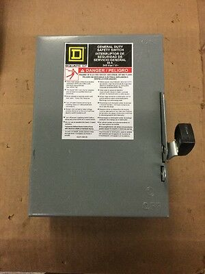 Square D Du322 60A General Duty Safety Switch Disconnect Non Fusible 240V