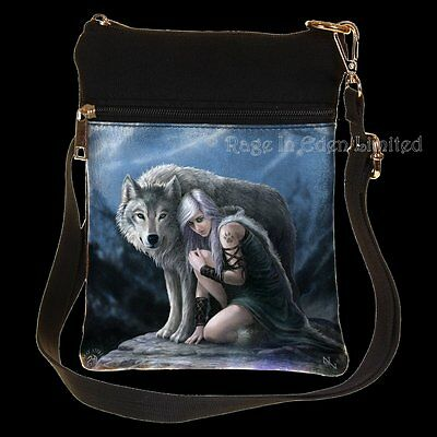 *PROTECTOR* Wolf Maiden Art Shoulder Bag By Anne Stokes