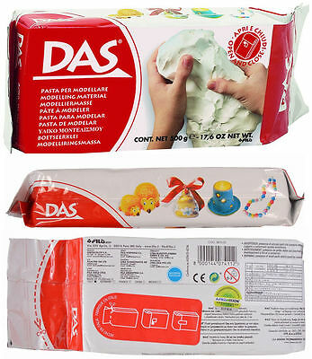 DAS Air Dry Clay 500g No Baking Self Hardening Modelling Sculpting No Firing New