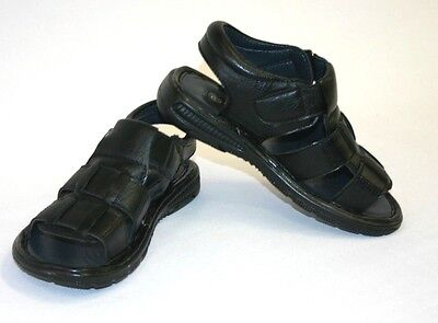 New Boys Kids Youth Fisherman Black Sandals Open Toe Summer Spring Size 11-4
