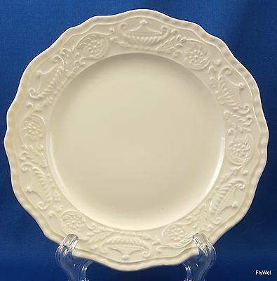 Steubenville Pottery Adam Antique Bread and Butter Plate Cream Embossed 6-1/8""