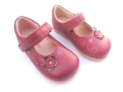 New Startrite Girls Tattle Red Plum Leather Mary Jane Shoes.uk 3F 4E & 4.5G