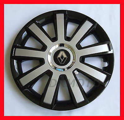 16'' Wheel trims Hub Cups for Renault Trafic  4 x 16'' black - silver