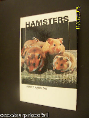 vintage HAMSTERS book by percy parslow 1979 breeding feeding pet care