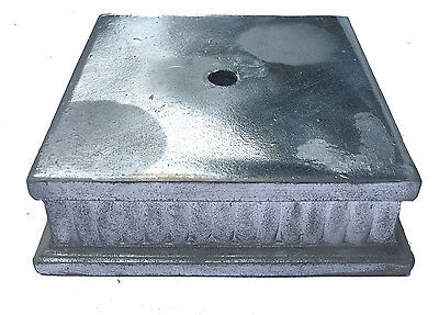 """NEW- Old Stock Unfinished  5""""sq. Cast Zinc Metal Lamp Base part"""