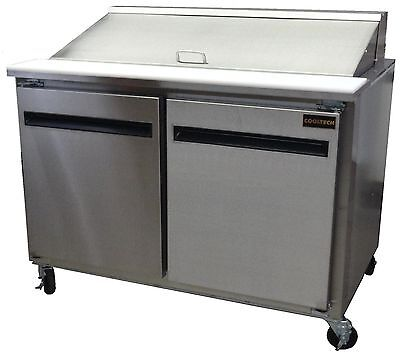 "48"" Cooltech 2-Door Refrigerated Sandwich Prep Table (BARELY USED) LOW PRICE"
