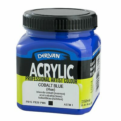 1x Derivan Artist Acrylic Paint 250ml, choose from 24 colours
