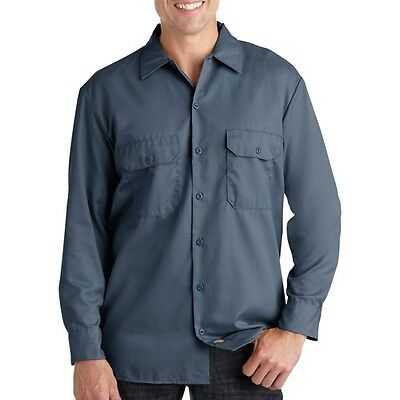 Dickies Big and Tall Men's Long Sleeve Twill Work Shirt. Shipping Included