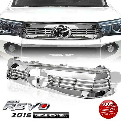 Made for TOYOTA Hilux SR5 Revo 2016-ON Full Chrome Front Sport Grille Grill