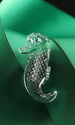 """Waterford® Crystal Seahorse 1.75"""" Brooch Pin Limited Edition Jewelry, Great Gift"""