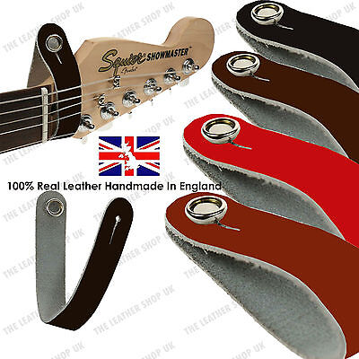 New 100% Real Leather Strap Hook For Electric/Acoustic Guitar Headstock UK Made